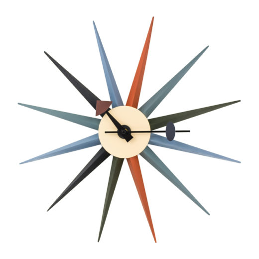 reloj de pared Starburst Multicolor