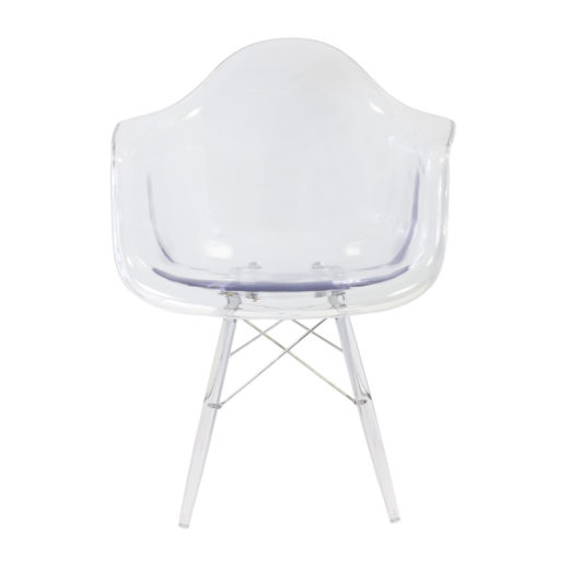 Chaise Tower transparente style Eames