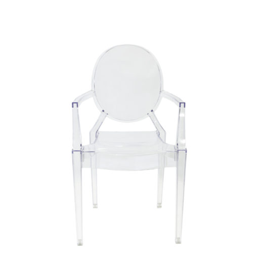 Chaise enfant transparente Louis Ghost