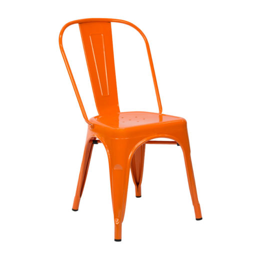 Chaise Tolix Orange - Chaise salle à manger