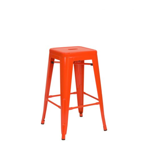 Tabouret Tolix Moyen orange finition brillante