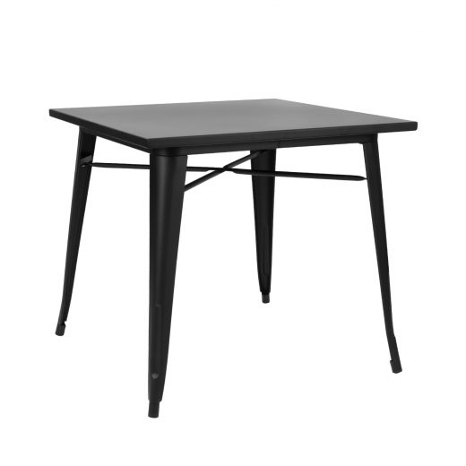 Table Tolix Noir Mate 80x80